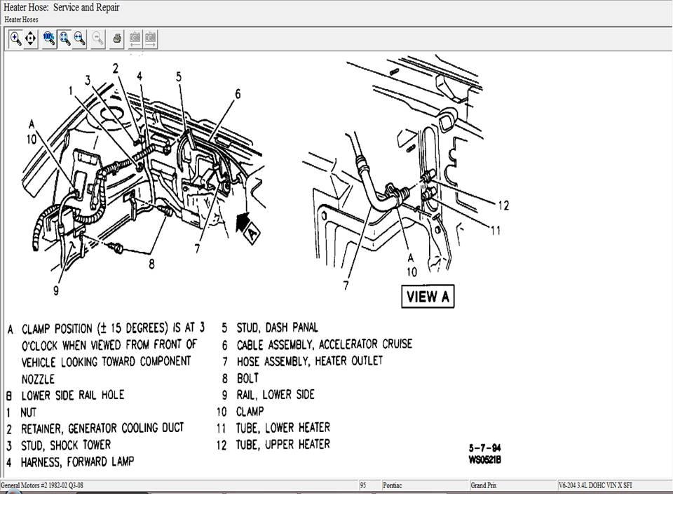 2000 Pontiac Grand Am Hoses Diagram Trusted Wiring. 2000 Pontiac Heater Hose Diagram Explained Wiring Diagrams Grand Am Parts Hoses. KIA. 05 KIA Sorento Heater Hose Diagram At Scoala.co