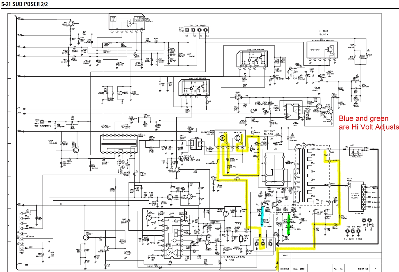 Tube Tv Power Supply Diagrams Basics Wire Electronics Repair Made Easy Chanwong Tvchina See Circuit Below Sharp Schematic Diagram Electrical Work Wiring U2022 Tcl Crt