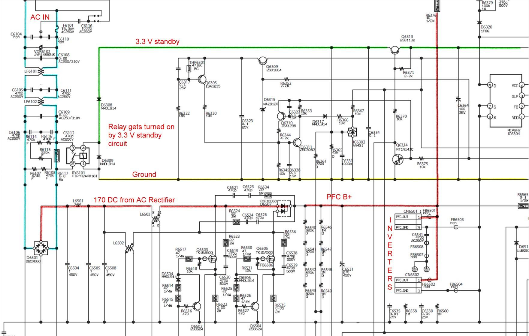 Схема инверторов lcd телевизоров