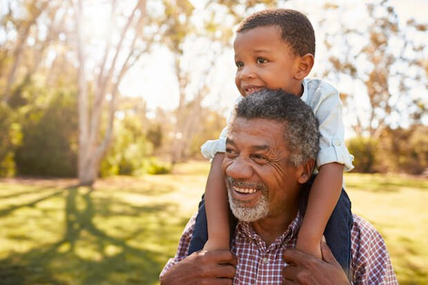 do grandparents have rights? grandfather and grandson