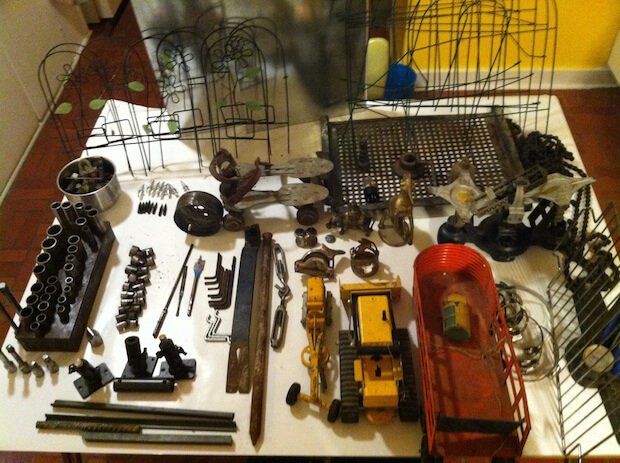 One dumpster diver is always looking for old tools and electrical components to use in his various projects.