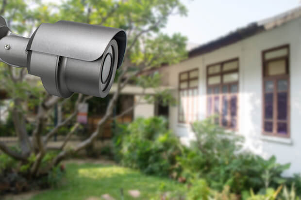 how to block a neighbor's security camera