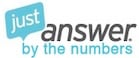 JustAnswer by the numbers logo
