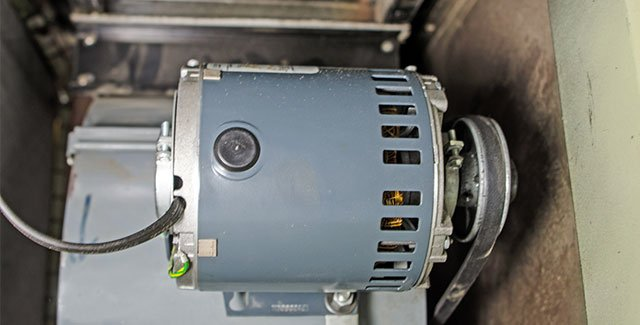 A typical furnace blower motor