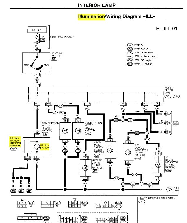 2000 nissan frontier tail light wiring diagram