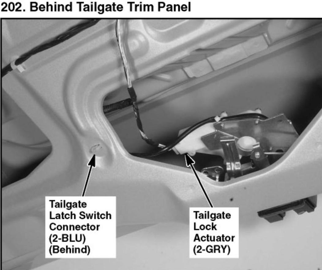2006 Pilot My Tailgate Will Not Open Though All Locks
