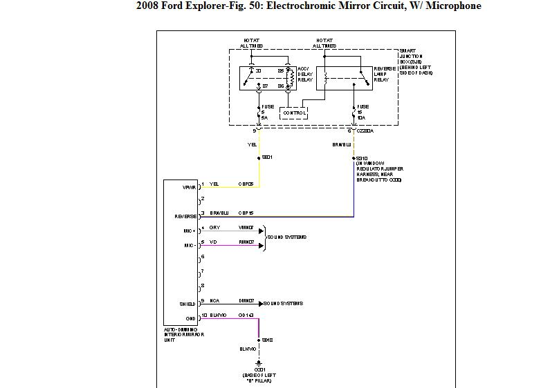 I Need The Wiring Diagram For A 2010 Ford Explorer Sync