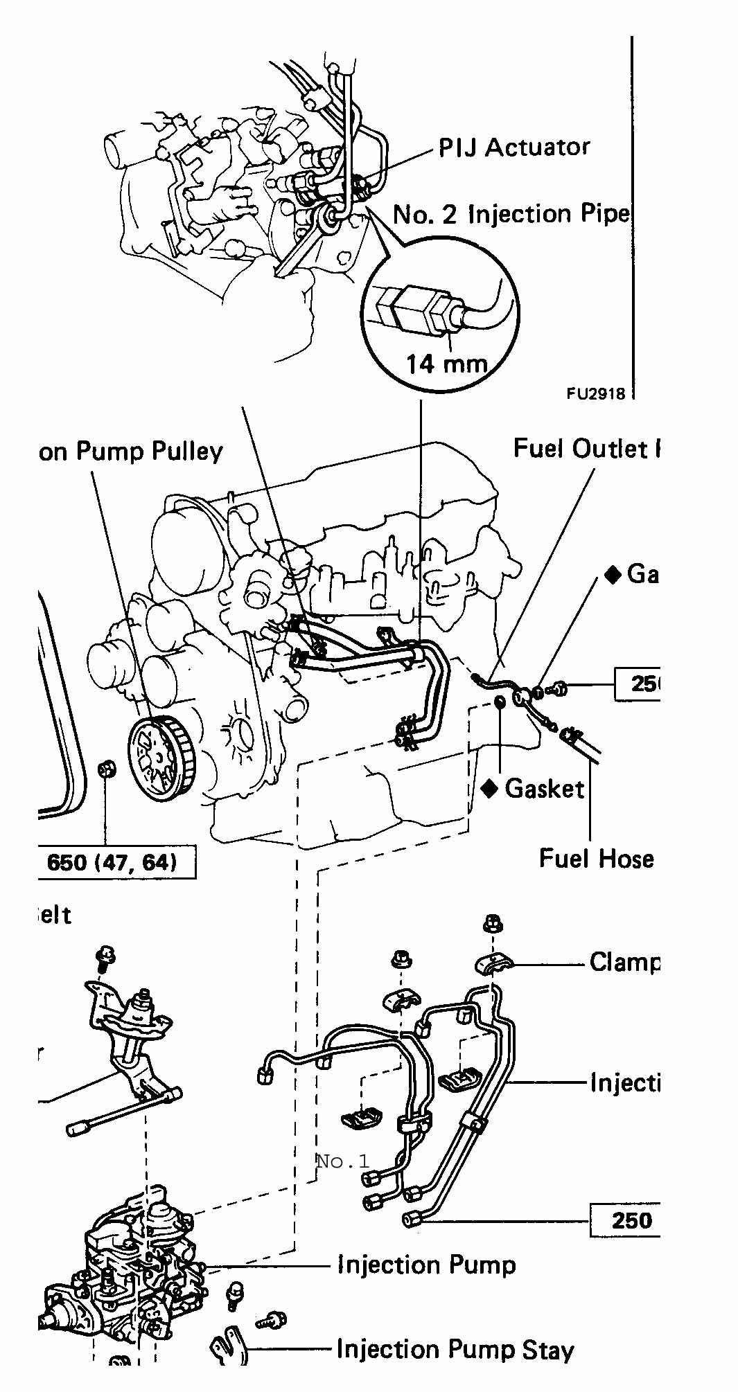 what is the firing order for a toyota 3l 2 8 diesel engine