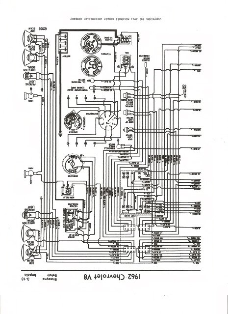 i need a complete wiring diagram for a 1962 chevy impala with a 283 rh justanswer com