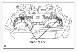 What's the procedure for replacing a Toyota Corolla inlet timing chain?