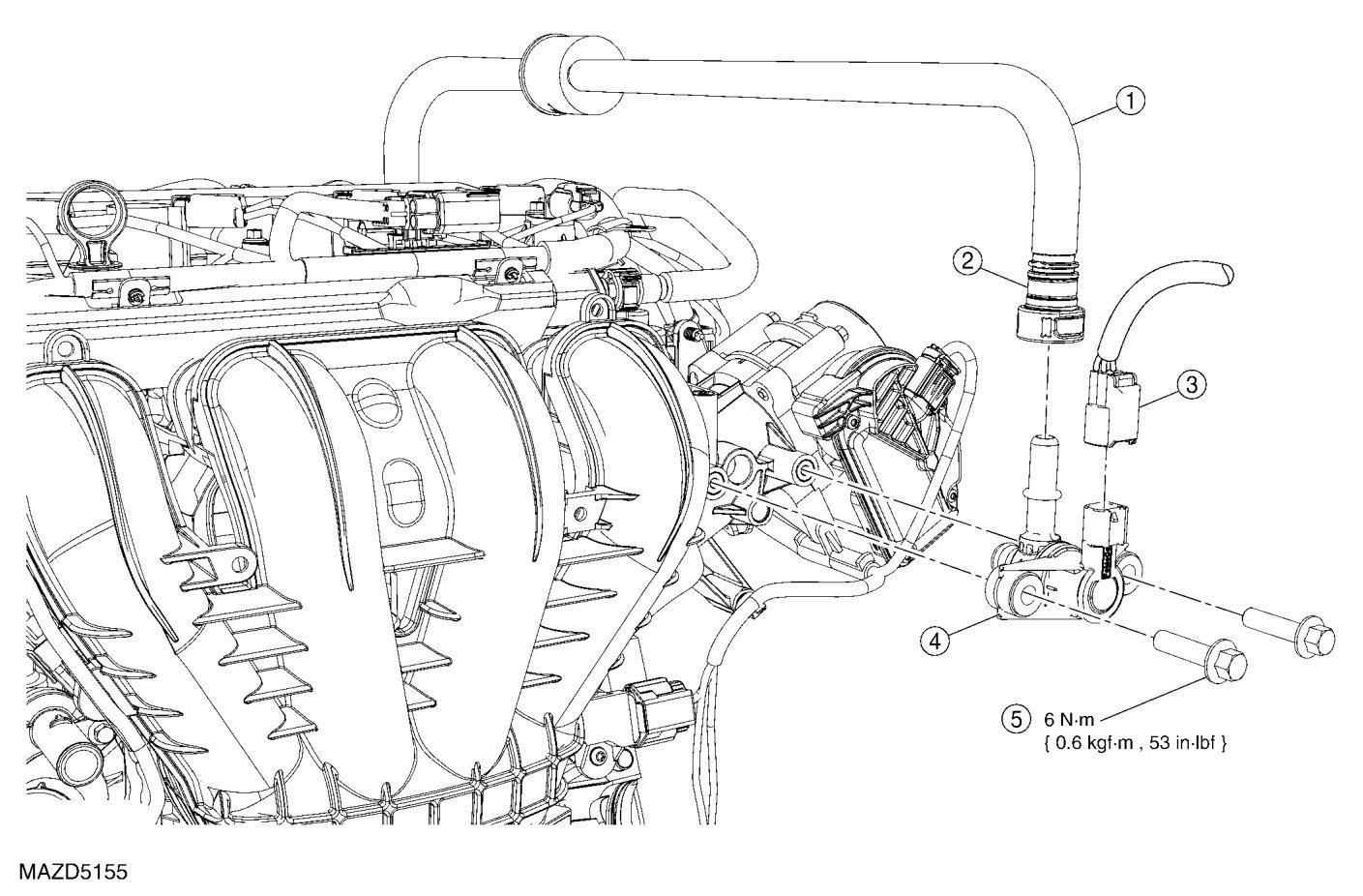 2010 Mazda Tribute 4 cyl - P0455 Emissions Leak Large