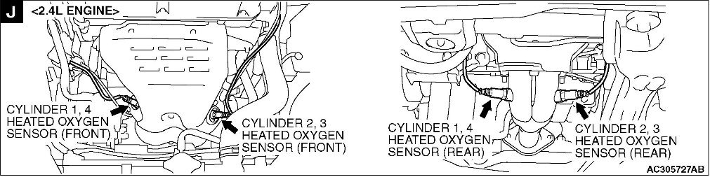I Have A Code Po135 Bank1 Sensor1 Would That Be Top Left And Bank2 Rhjustanswer: 2003 Mitsubishi Galant Oxygen Sensor Location At Gmaili.net