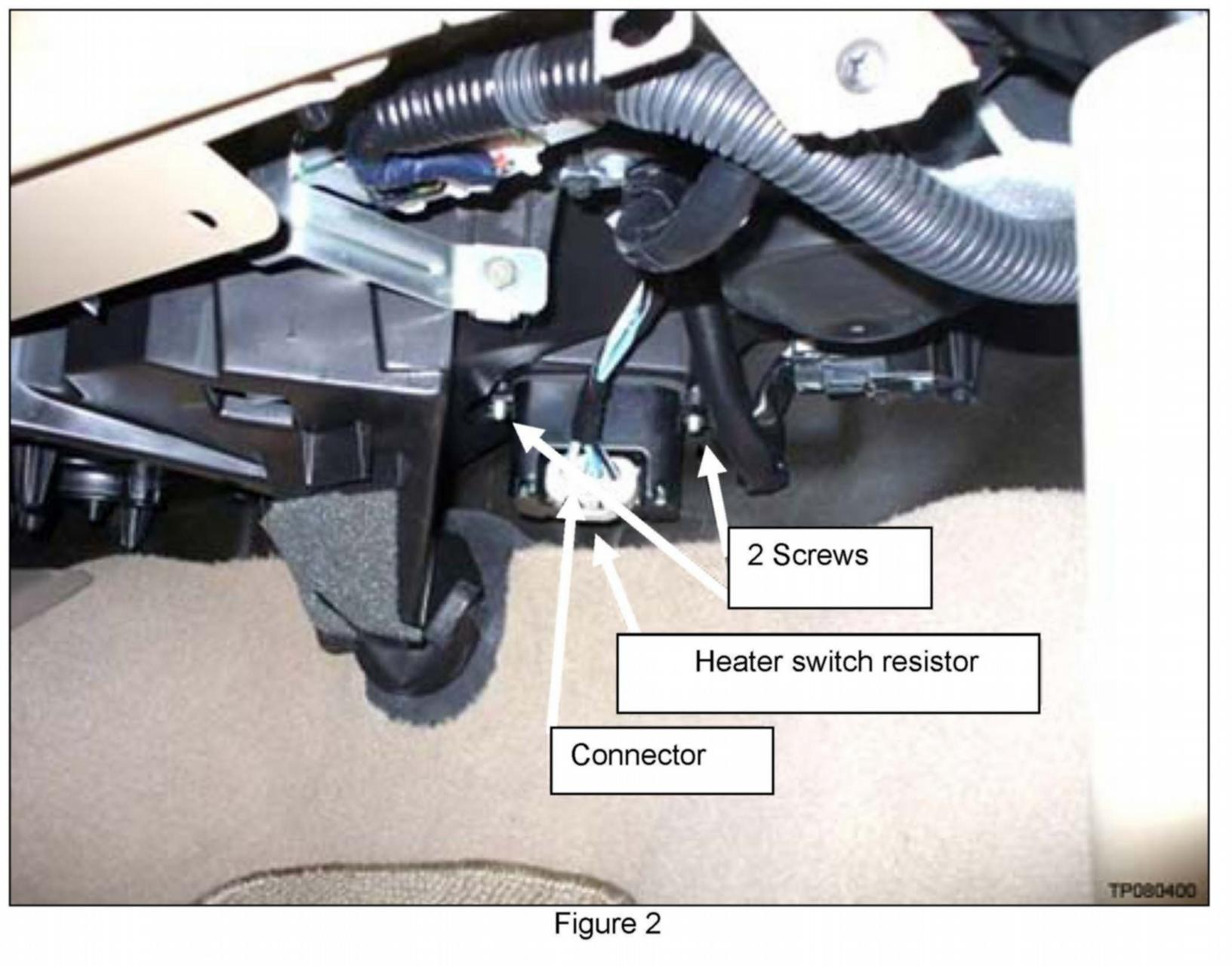 Where Is The Blower Resistor Part Located The Ac Stays On