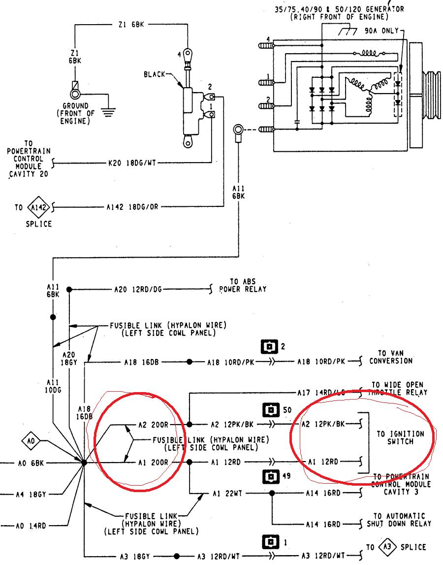 on 94 Dodge 2500 Wire Diagram