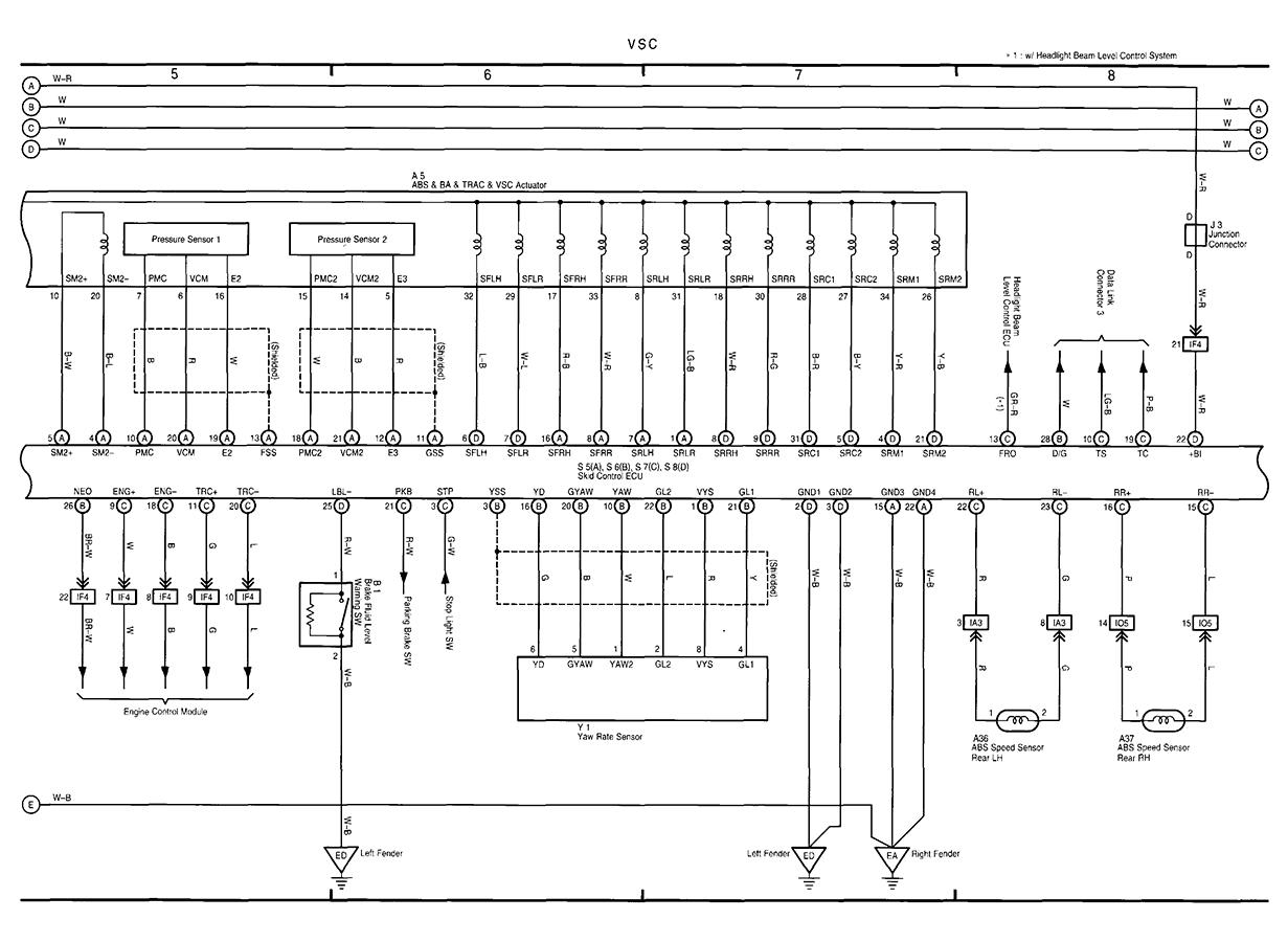 Lexus Rx300 Abs Wiring Diagram Download Diagrams I Have 2 Lights On The Track Off And Vsc Turn Key Light Bulbs 2000 Overall