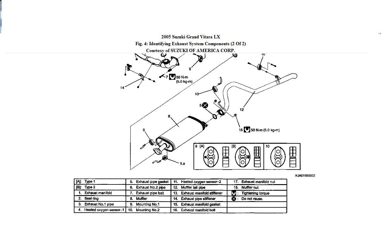 2000 Suzuki Vitara Exhaust System Diagram Trusted Wiring Diagrams Two Wire Alternator 2001 Grand Jimny House Symbols U2022 Red