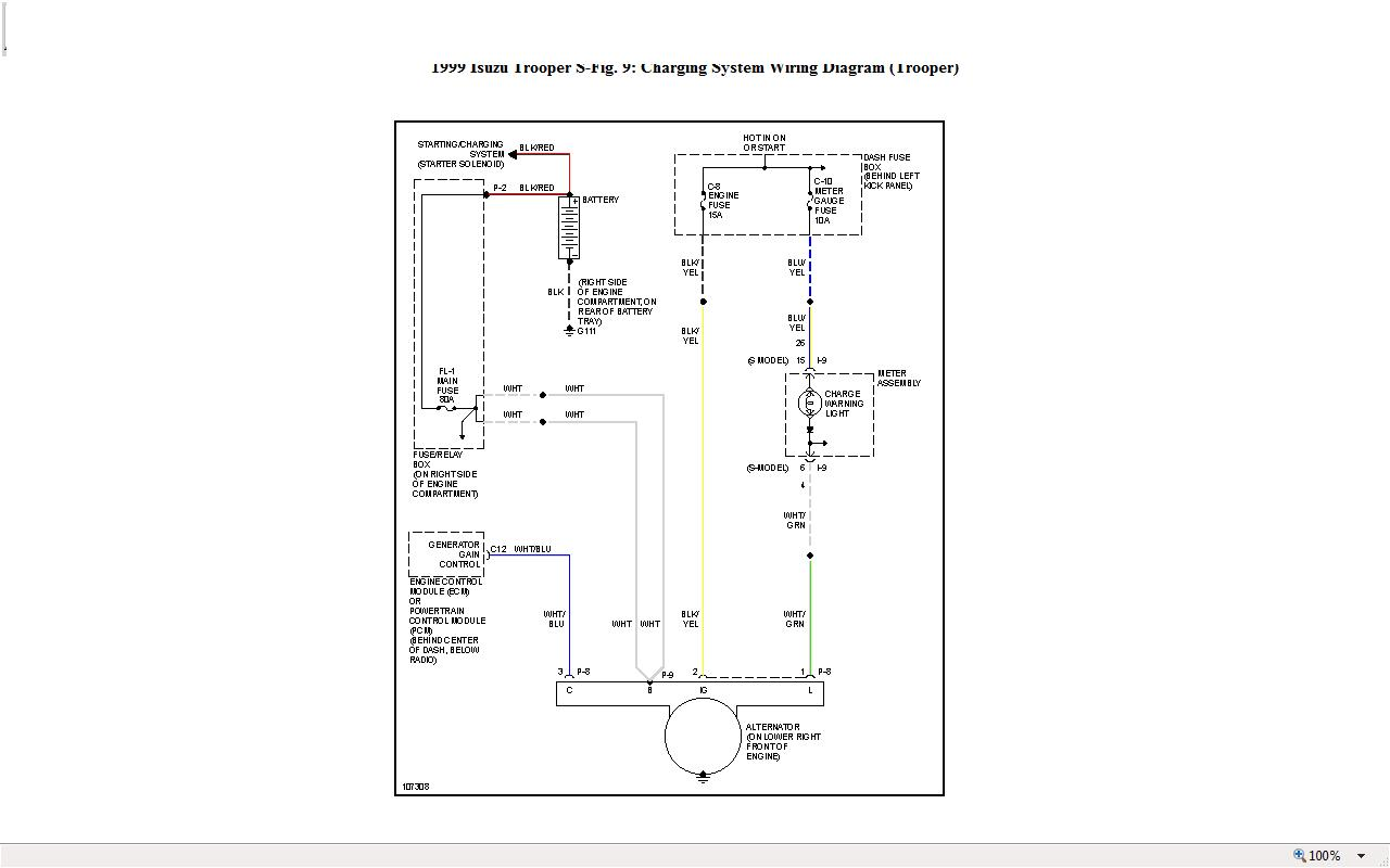 Isuzu Trooper 3 0 Wiring Diagram Diagrams 1999 Engine I Have An Td A While Ago Had New 95