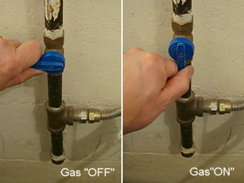 Hi If The Shut Off Valve Is Parallel With Gas Line On It S Horizontal