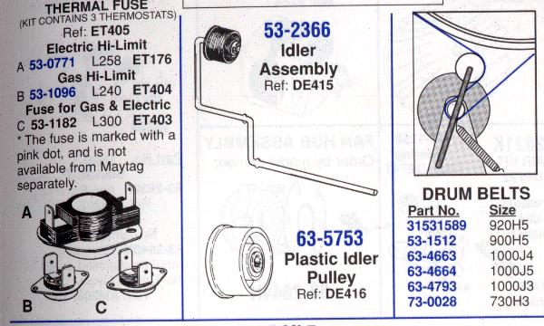Maytag Dryer Wiring Diagram Pye2300ayw : Maytag dryer model pye ayw the idler pulley spring