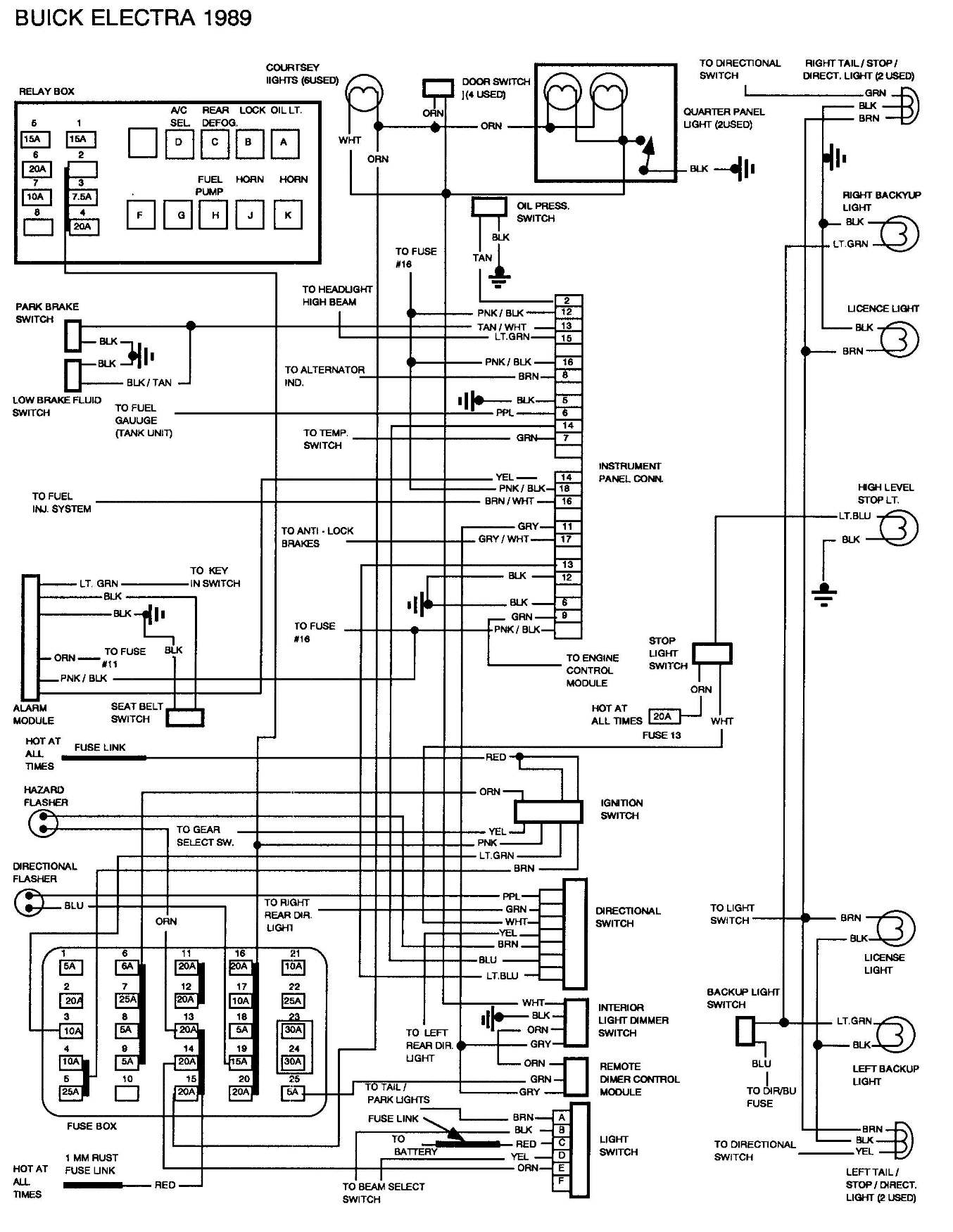 1998 buick century radio wiring diagram 2008 buick enclave radio wiring diagram i have a 1989 buick electra park avenue with a battery ...