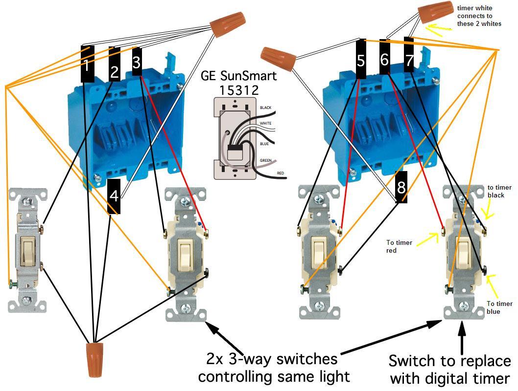 3 Way Switch Wiring Diagram Timer