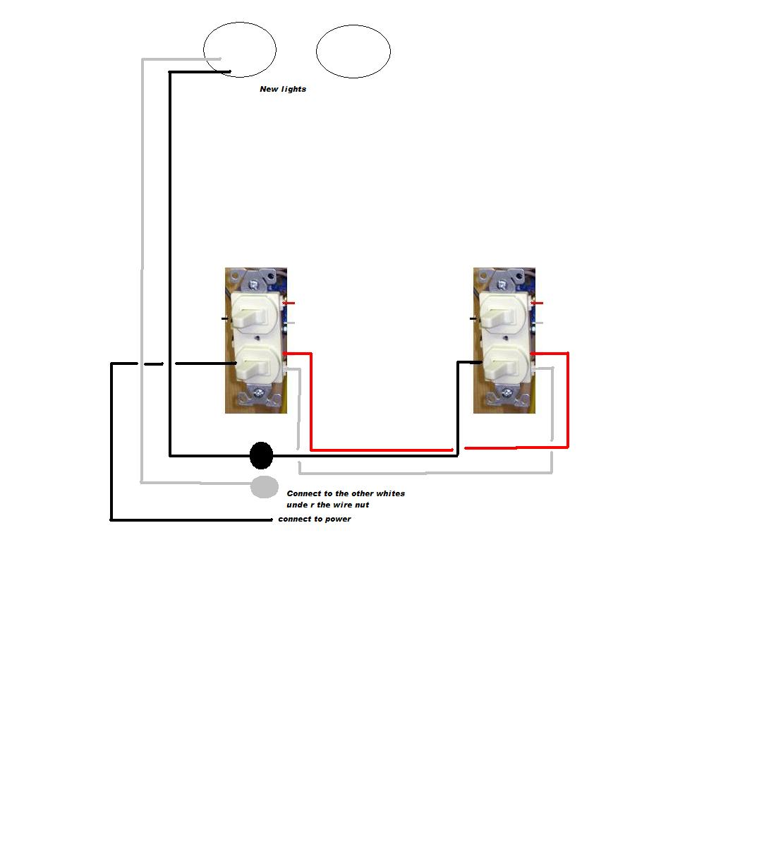 Electrical Wiring Light With Two Switches