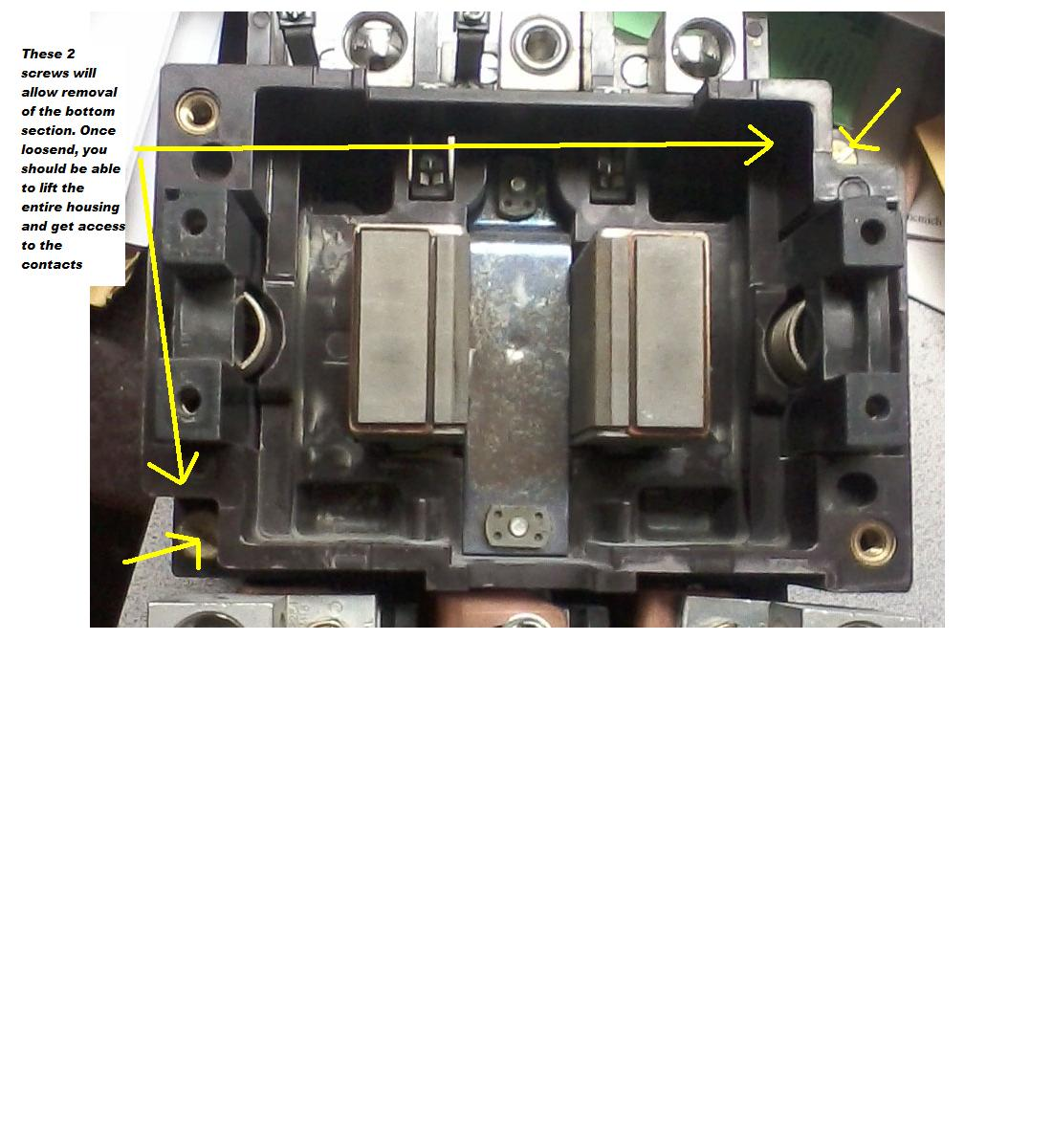 How Do I Access The Contactors In A Cutler Hammer Starter A10f 2 Dayton Electric Motor Wiring Diagram Am Db1 Graphic