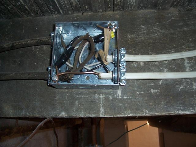 Metal tube wiring