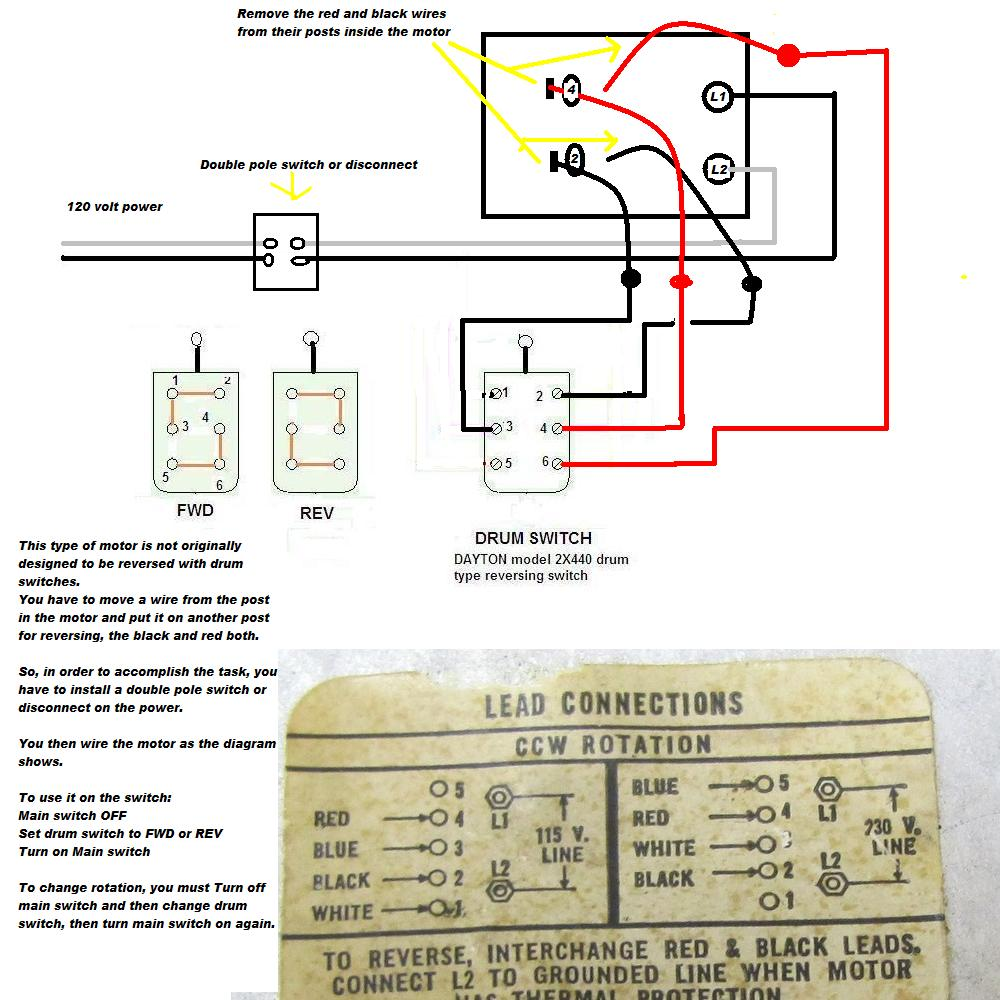 I'm trying to wire a westinghouse 1/2hp motor into a ...