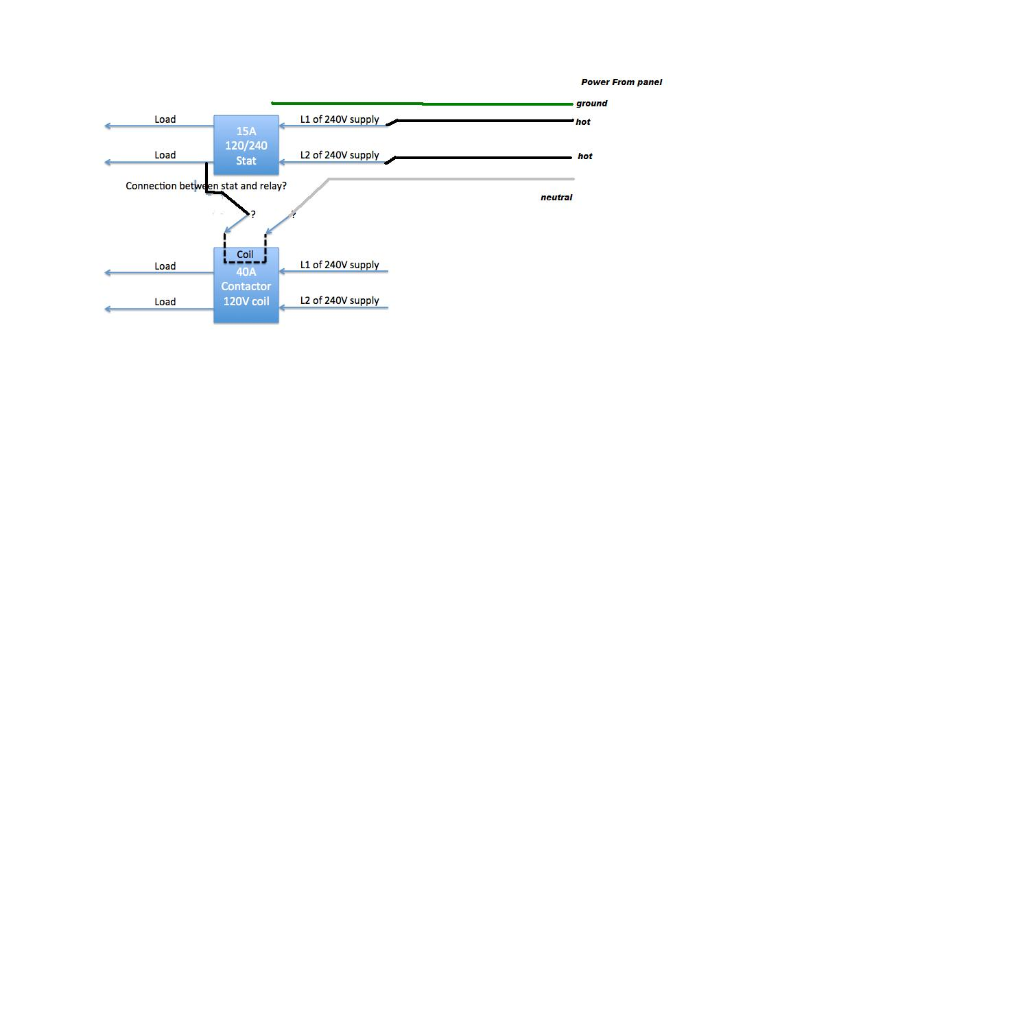 I Have A 240v Application Using 40a Relay Contactor 120v Coil Wiring Diagram For Let Me Know