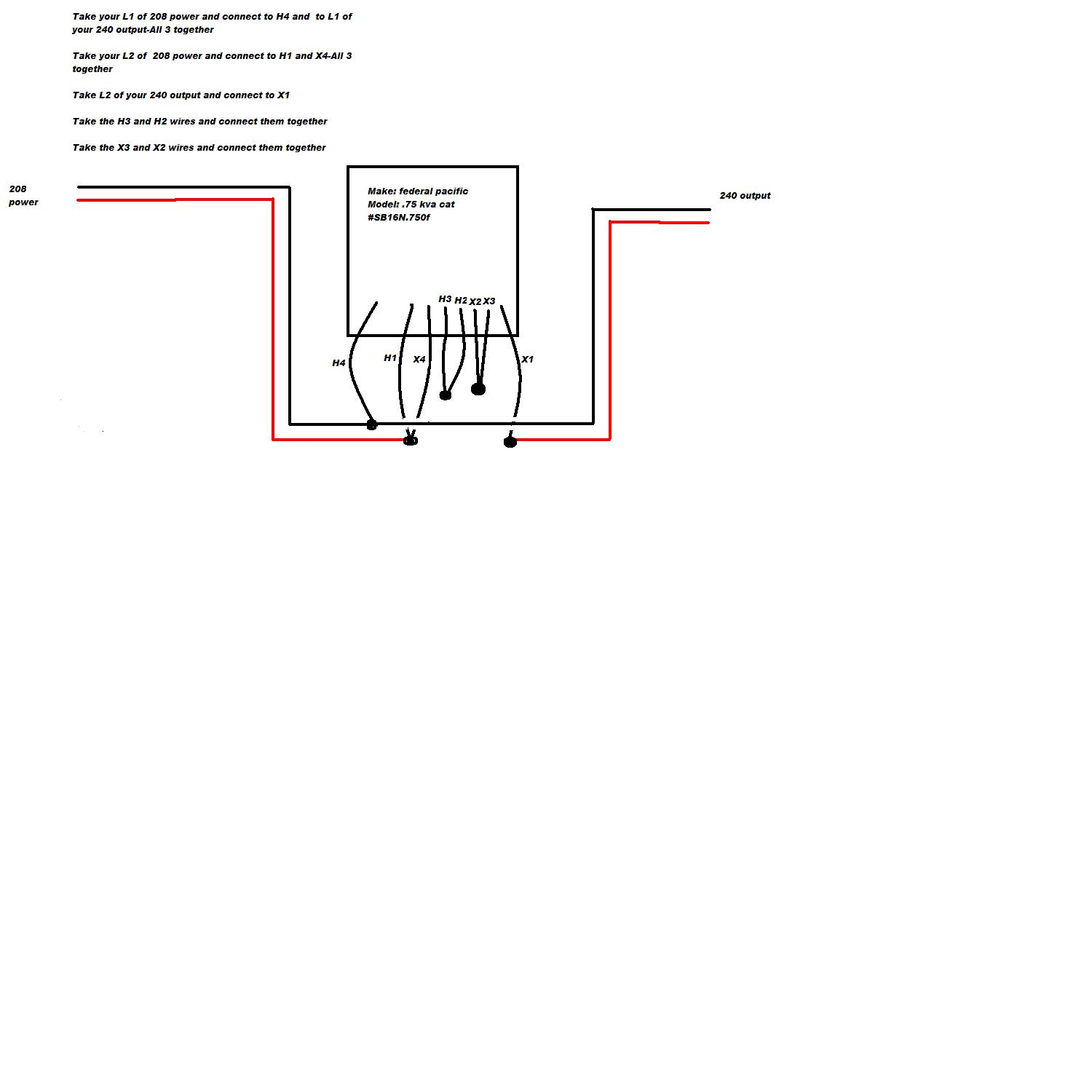 [DIAGRAM_09CH]  I have a.75 kva federal pacific buck boost transformer trying to take 208v  to 240v would that be the same diagram | 208v Transformer Wiring Diagram |  | JustAnswer