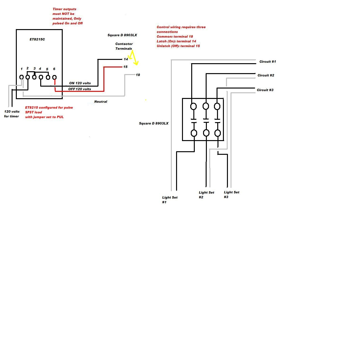 Wiring Diagram For Square D Lighting Contactor : Square d lighting contactor wiring diagram