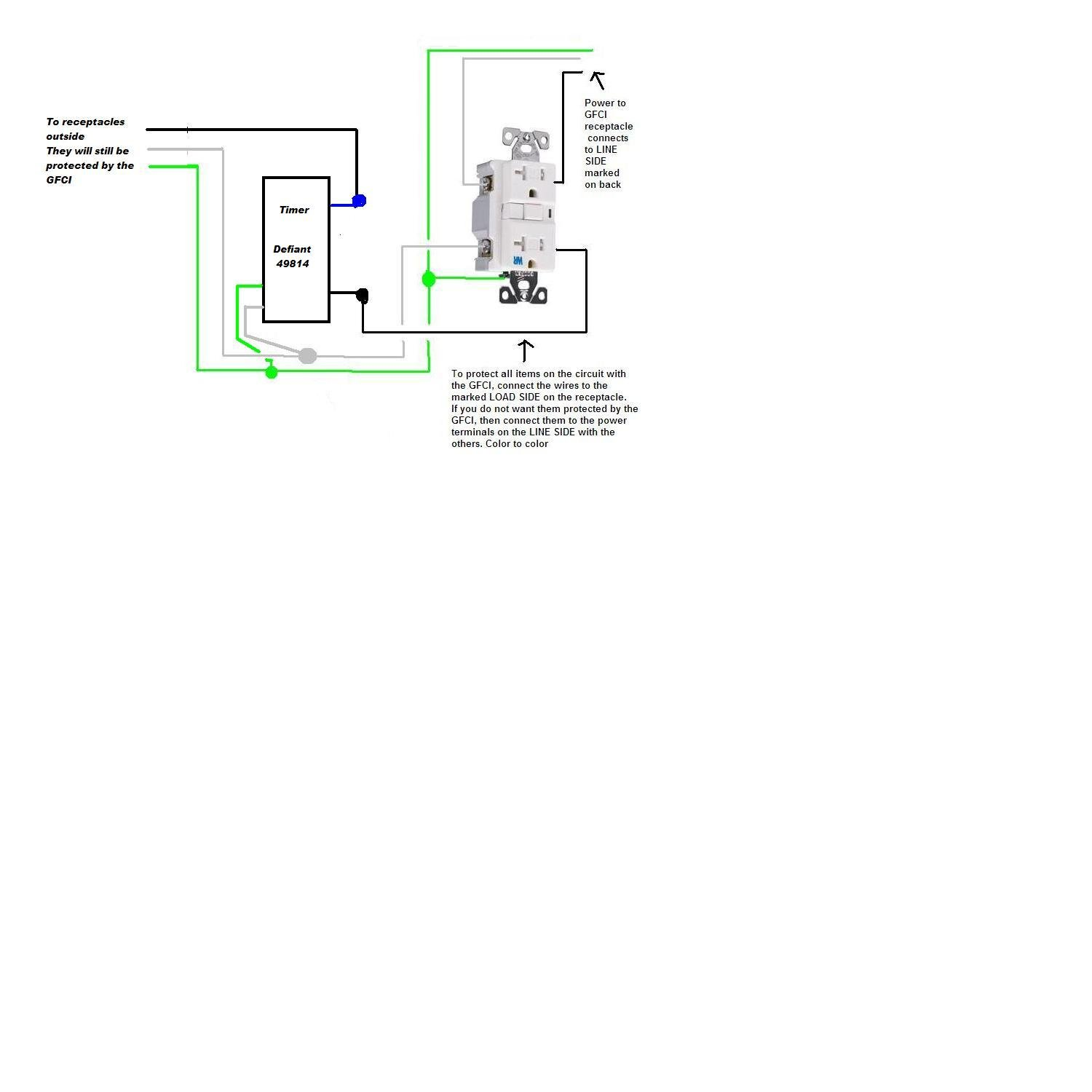 I Have A Junction Box Like This But Would To Replace The Wiring Gfci Outlet Diagram Graphic