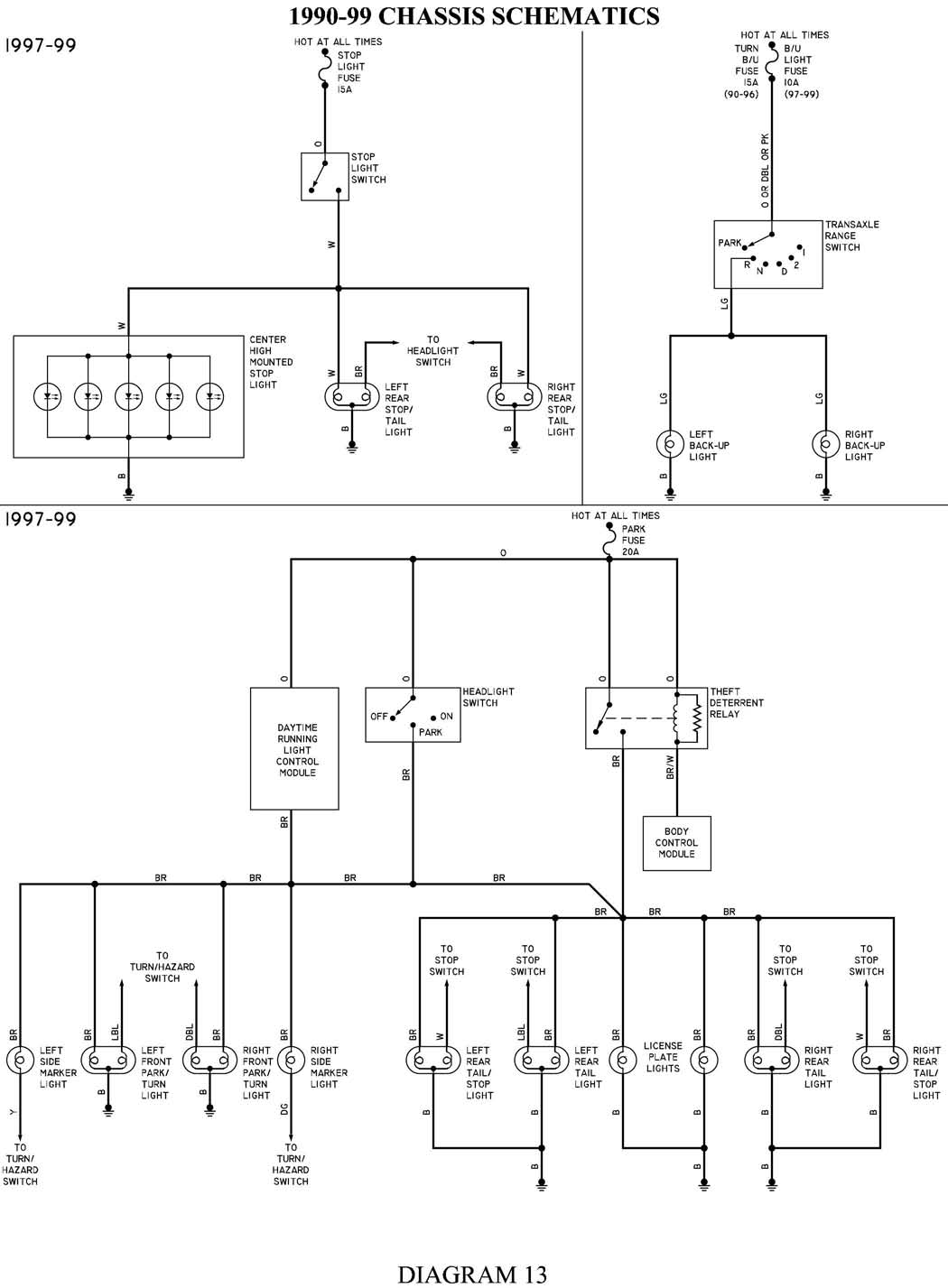 oldsmobile silhouette wiring diagram 2000 oldsmobile silhouette fuse diagram 98 olds silouette van, no brake lights? bulbs are good ...