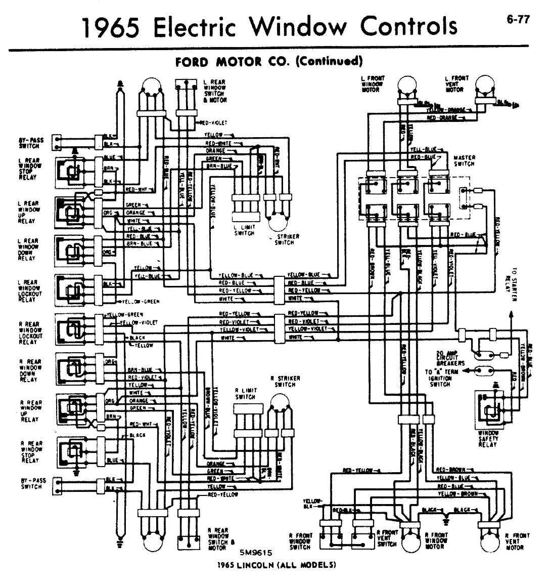 1965 Ford Thunderbird Wiring Diagram Power Window Complete 1966 1955 Rh Recored Co 1956