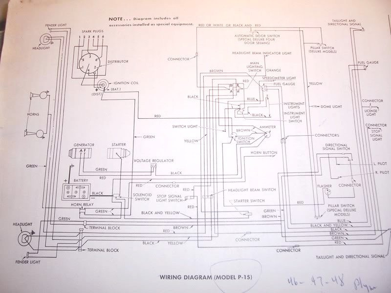 something in my 34 plymouth is wrecking the coil. i direct ... 46 chevy sedan wiring diagram