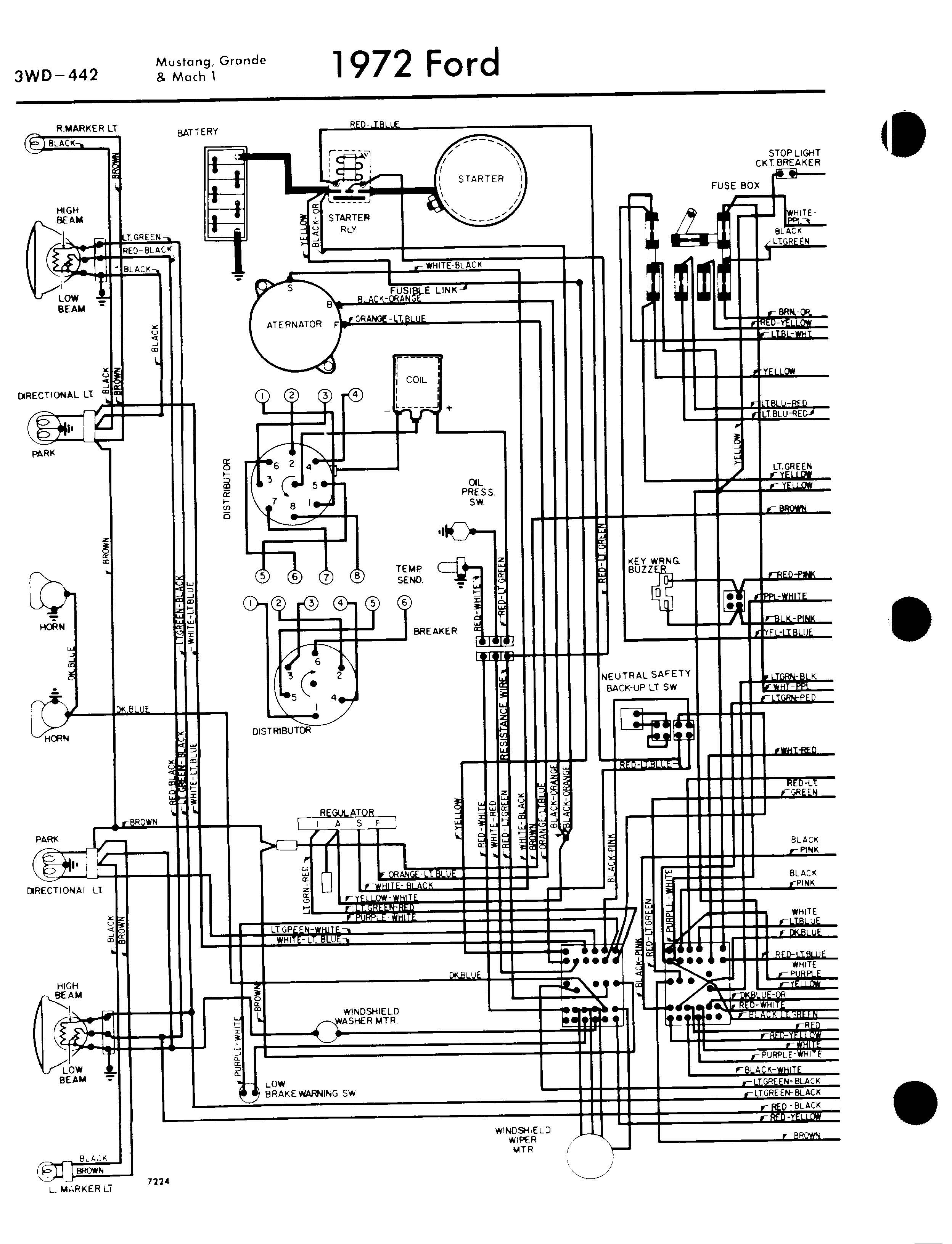 70 mustang wiring diagram