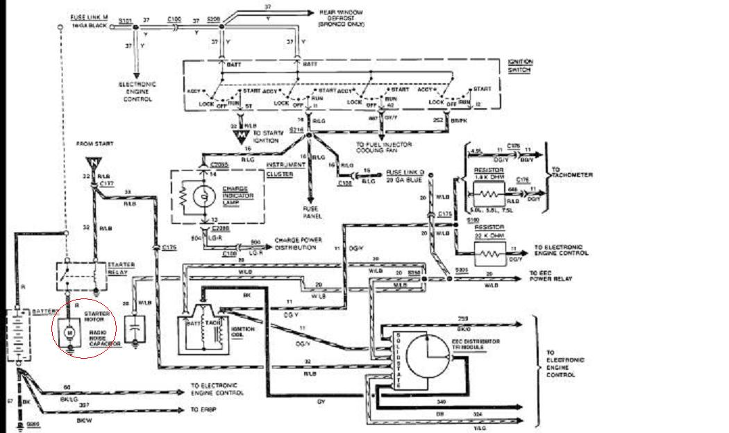 1988 Ford F150 4x4 With 4 9l  I Need Simple Wiring Diagram Of Starting System  Battery Through