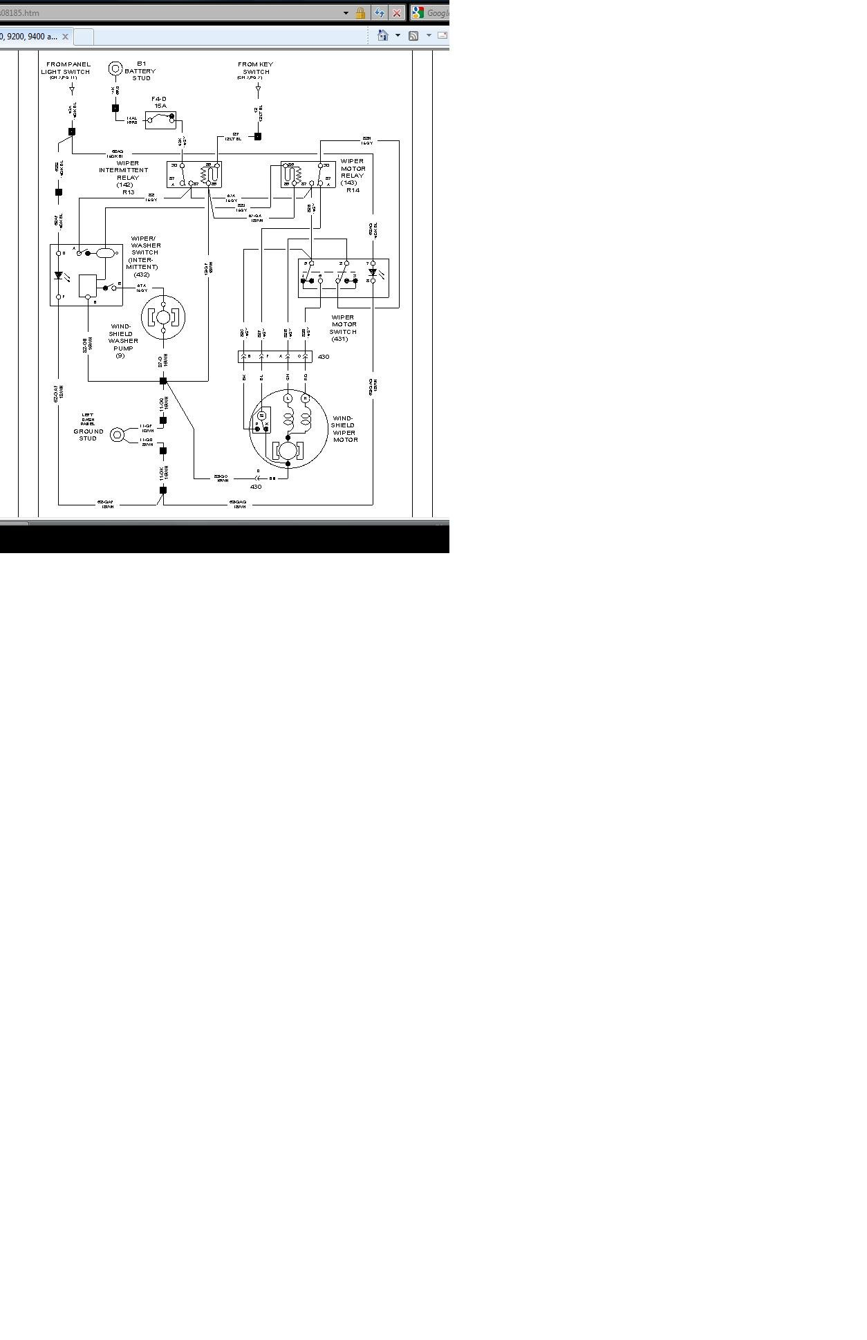 I Need A Wiring Schematic For The Wiper Motor Switch 91 99 Full Size Image