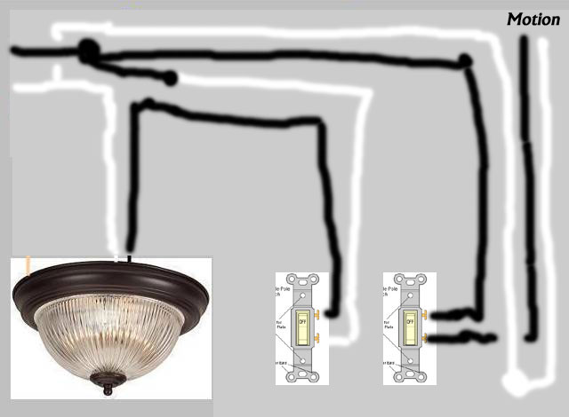 i am attempting to install a motion sensor flood light on an exterior wall of my house i want. Black Bedroom Furniture Sets. Home Design Ideas