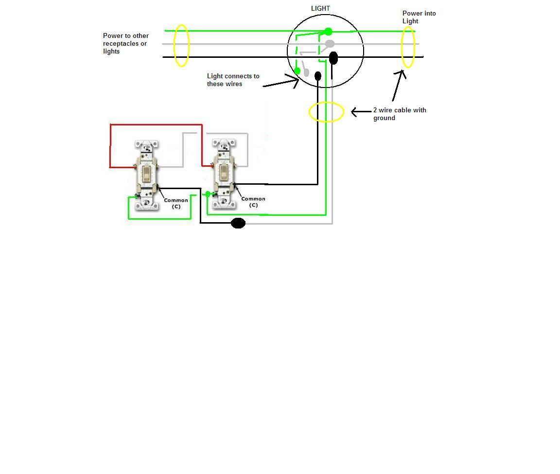 How Do I Power A Seperate Circuit When Coming From The Light Box And Exhaust Fan Switch Wiring Diagram For 1 Powering Graphic