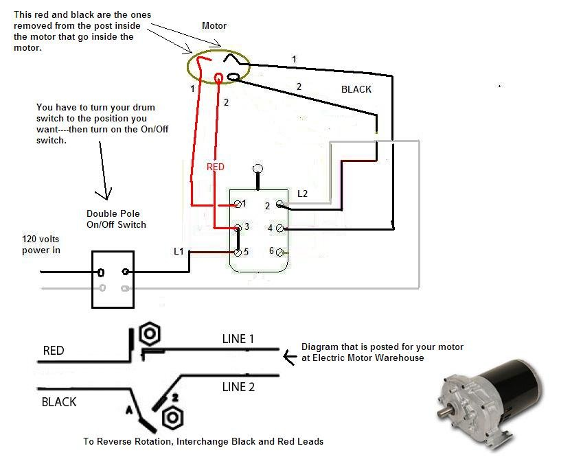 i am wiring a cutler hammer db1 drum switch to a dayton bison ac rh justanswer com wiring a 3 phase motor switch wiring a bigfoot trolling motor switch