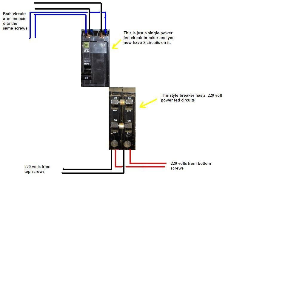 i replace two side by side breakers in my panel box  the