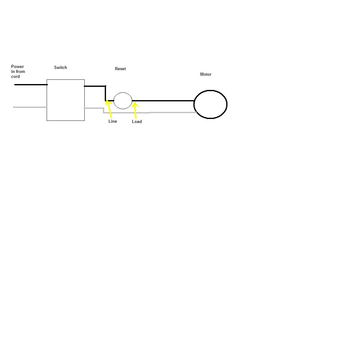 Im trying to install a reset button on my table saw ive got power made a quick diagram keyboard keysfo Images