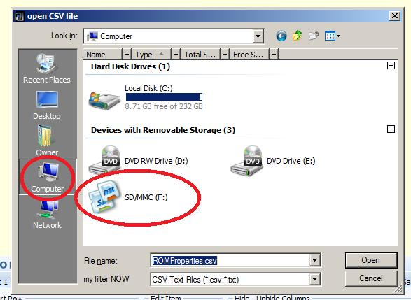 i have gps with a sd card formatted in csv how do i transfer the
