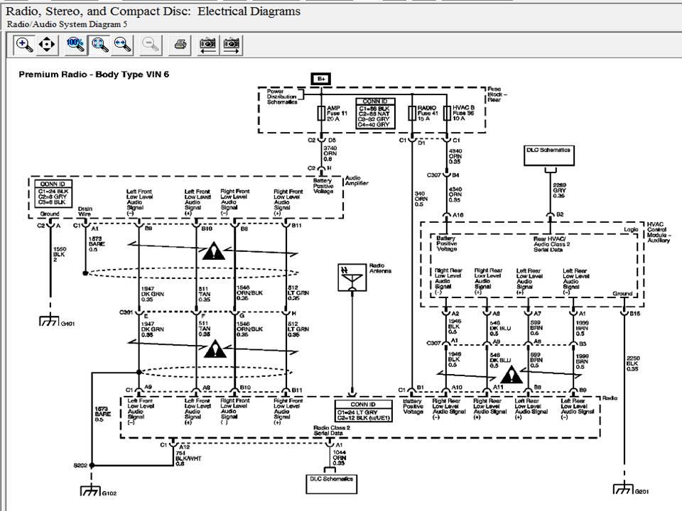 Radio on 1999 Gmc Envoy Radio Wiring Diagram