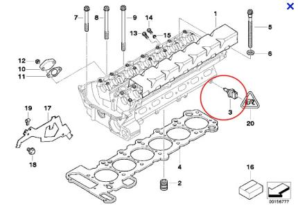 where is temp switch in 2001 bmw 525i