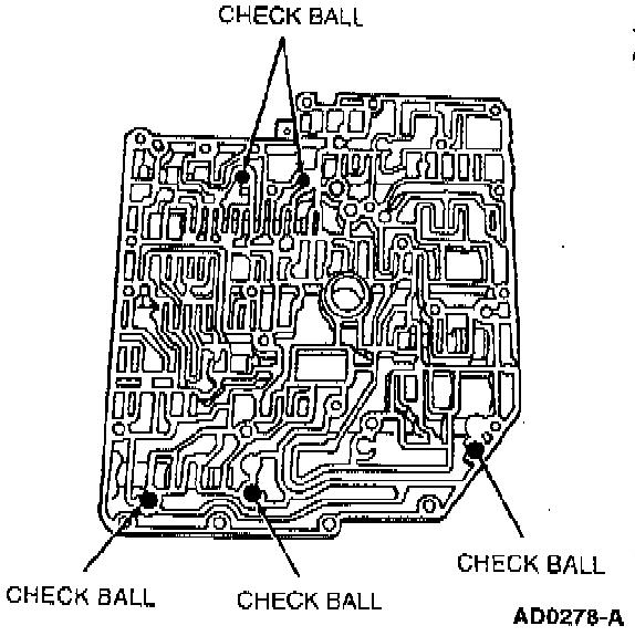 i misplaced a check ball in a 98 taurus ax4n valve body  do you have a diagram
