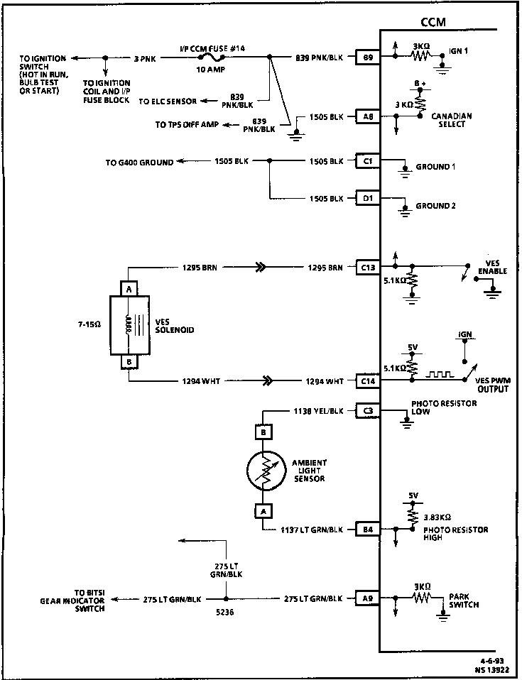 I Need The Wiring Diagram For The Tdm Module On My 1993