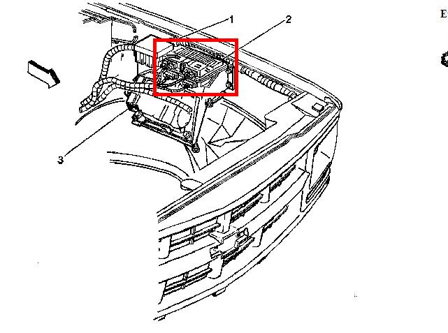 where is the  transmission module located on a 99 yukon denali